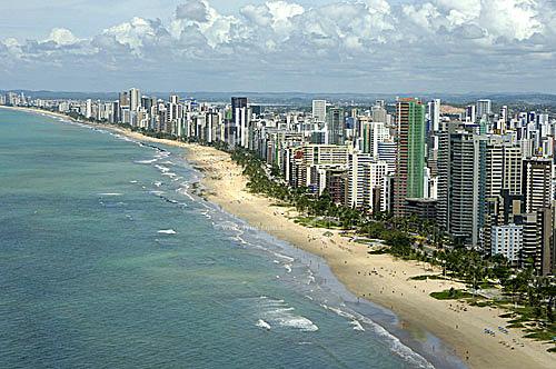 Vista aérea do bairro Boa Viagem - Recife - PE - Brasil - 2006  - Recife - Pernambuco - Brasil