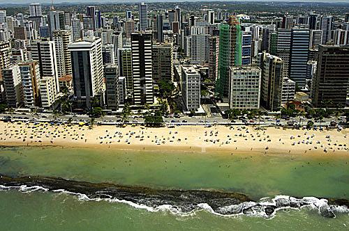 Vista aérea do bairro Boa Viagem - Recife - Pernambuco - Brasil  - Recife - Pernambuco - Brasil