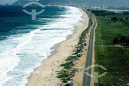 Vista aérea do Recreio dos Bandeirantes, continuação da Barra da Tijuca com parte a Lagoa de Marapendi à direita - Rio de Janeiro - RJ - Brasil  - Rio de Janeiro - Rio de Janeiro - Brasil