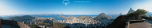 Vista panorâmica (236°) da Zona Sul do Rio de Janeiro - RJ - Brasil  - Rio de Janeiro - Rio de Janeiro - Brasil