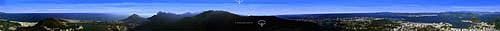 Rio de janeiro, 360 graus tendo como centro o Cristo Redentor, com o o Pão-de-Açúcar e a ponte Rio-Niterói ao lado direito (ao fundo); e a Lagoa Rodrigo de Freitas à esquerda - Rio de Janeiro - RJ - Brasil  - Rio de Janeiro - Rio de Janeiro - Brasil