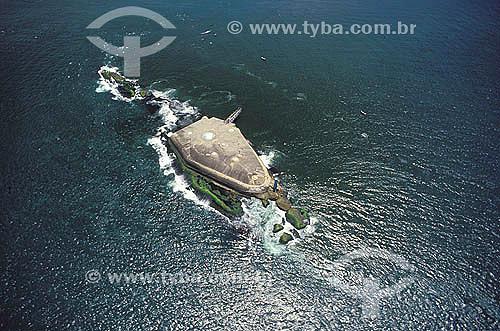 Visão aérea da Fortaleza da Laje - Entrada da Baía de Guanabara - Rio de Janeiro - RJ - Brasil  - Rio de Janeiro - Rio de Janeiro - Brasil