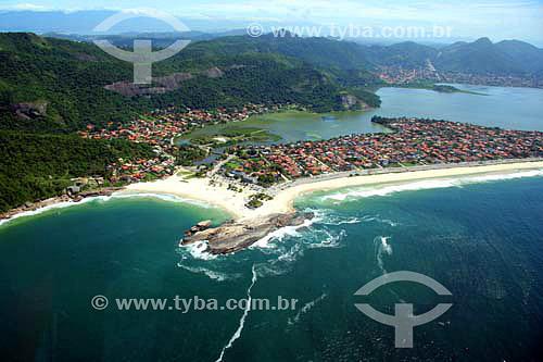 Vista aérea da Praia de Piratininga - Niterói - RJ - Brasil - Novembro de 2006  - Niterói - Rio de Janeiro - Brasil