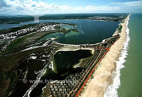 Vista aérea do Parque Nacional da Restinga de Jurubatiba - Carapebus - próximo à cidade de Macaé, a noroeste do estado do Rio de Janeiro - Rio de Janeiro - Brasil  - Carapebus - Rio de Janeiro - Brasil