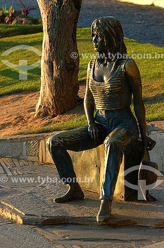 Estátua de Brigitte Bardot - Búzios - Região dos Lagos - Litoral norte do Rio de Janeiro - Brasil  - Armação dos Búzios - Rio de Janeiro - Brasil
