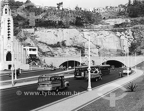 Tunel Novo em 09/09/1953 - Botafogo - Rio de Janeiro - Brasil  - Rio de Janeiro - Rio de Janeiro - Brasil