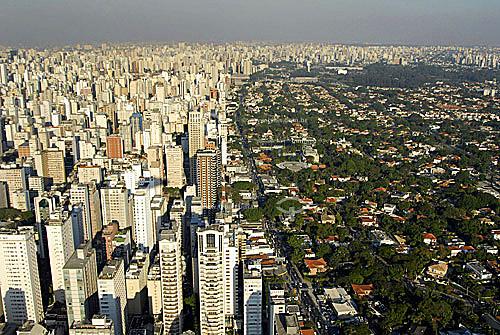 Vista aérea do Jardim América e Jardim Europa - São Paulo - SP - BrasilData: 06/2006