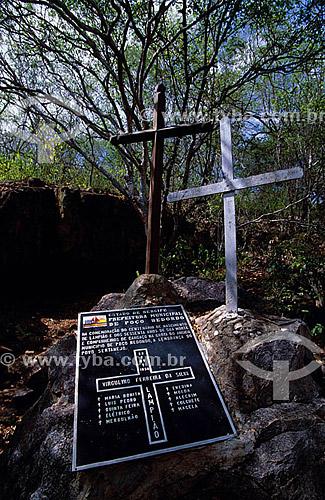 Grota do Angico (local da morte de Lampião) - Poço Redondo - Sergipe - Brasil  - Poço Redondo - Sergipe - Brasil