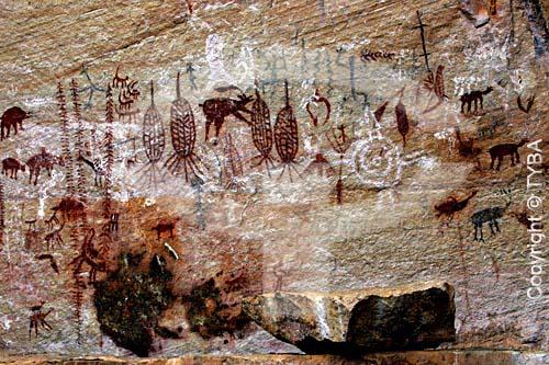 Arte rupestre - Sítio Arqueológico Vão Grande na Serra do Lajeado  - Palmas - Tocantins - Brasil
