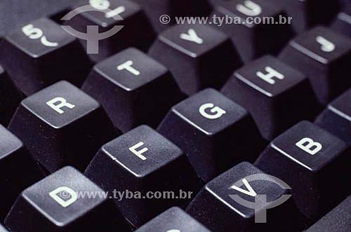Detalhe de teclado de computador