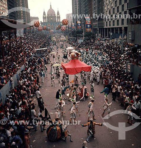 Carnaval na Avenida Presidente Vargas - Centro da cidade do Rio de Janeiro - RJ - Brasil  - Rio de Janeiro - Rio de Janeiro - Brasil