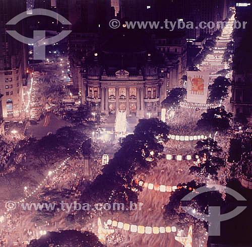 Desfile de carnaval  na Avenida Rio Branco - centro - Rio de Janeiro - RJ - Brasil  - Rio de Janeiro - Rio de Janeiro - Brasil