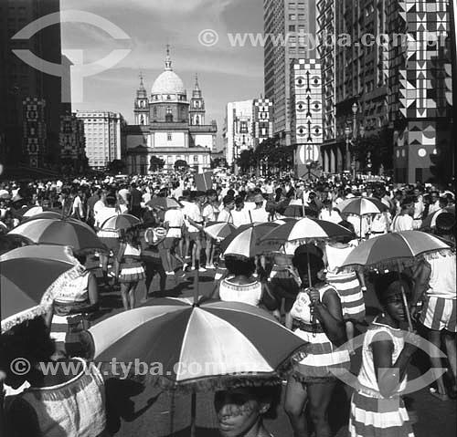 Carnaval de rua na Av. Presidente Vargas no Rio de Janeiro - RJ - Brasil  - Rio de Janeiro - Rio de Janeiro - Brasil