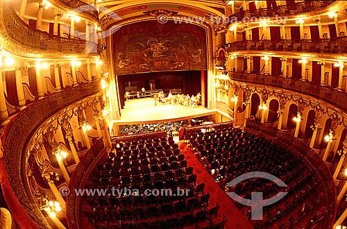 Interior do Teatro Amazonas - Manaus - AM - Brasil   O teatro é Patrimônio Histórico Nacional desde 20-12-1966, sendo o primeiro monumento, em Manaus, tombado pelo Patrimônio Histórico. / Data: 2008