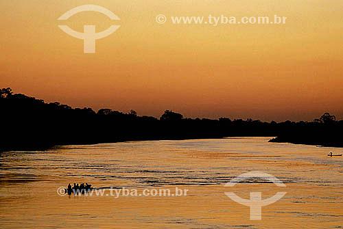 Entardecer no Rio Purus - Amazônia - Brazil
