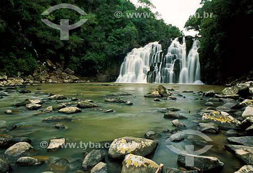 Cachoeira - Parque da Pedreira - Rio Azul - Paraná - Brasil - Março de 2004  - Rio Azul - Paraná - Brasil