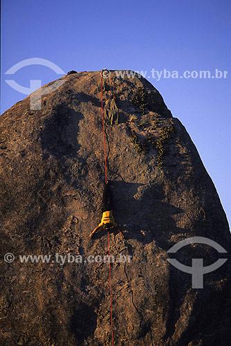 Rappel no Bico do Papagaio no Parque Nacional da Tijuca  - Rio de Janeiro - Rio de Janeiro (RJ) - Brasil