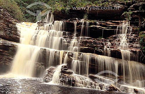 Cachoeira da Capivara - Parque Nacional da Chapada Diamantina - Cerrado - BA - Brasil / Data: 2008