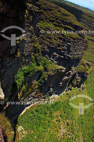 Cachoeira da Fumaça localizada no vale do Capão - Chapada Diamantina - Bahia - Brasil - Janeiro 2006  - Bahia - Brasil