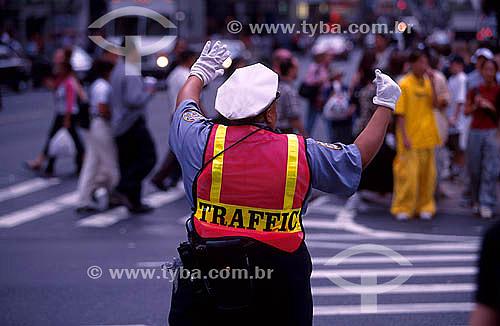 Guarda de trânsito - Nova York - NY - Estados Unidos - 2000
