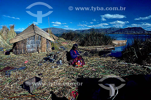 Índio - Lago Titicaca - Peru
