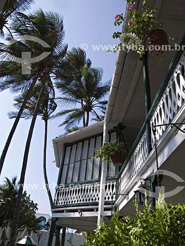 Museu Casa Rafael Nunes (Presidente da Colômbia) - Construção Estilo Caribe Antilhano - Cartagena - ColômbiaFev/2007