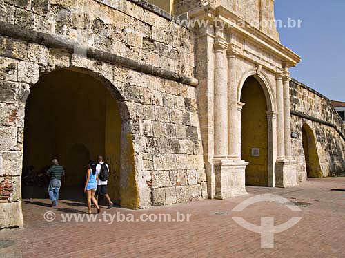 La Boca del Puente - Torre del Reloj (Clock Tower) - Portal de los Dulces - Cartagena - ColômbiaFev/2007