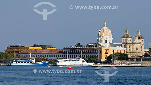 Vista da cidade de Cartagena - Colômbia