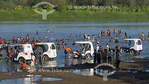 Praia em rio - Santa Cruz de Mompox - Colômbia - Fev/2007