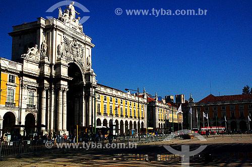 Arco Triunfal na rua Augusta - Lisboa - Portugal