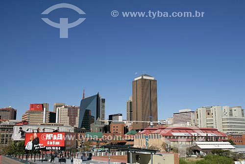 Vista de Joanesburgo, parte nova da Cidade, no centro da foto vemos o