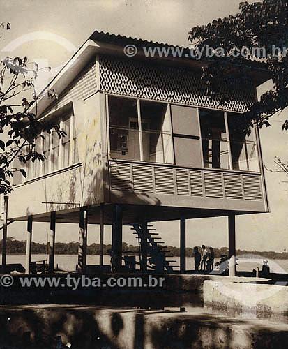 Arquitetura moderna - Rio Maguari - Ananindeua - Casa sobre pilotis - ParáAcervo: Maria Evangelina Rodrigues de Almeida  - Ananindeua - Pará - Brasil