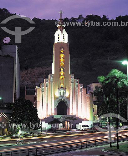 Igreja de Santa Teresinha na Avenida Lauro Sodré - Rio de Janeiro - RJ - Brasil  - Rio de Janeiro - Rio de Janeiro - Brasil