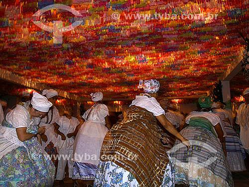 Culto à Iemanjá na Casa de Gisele Cossard Binon, Iyalorixá do Candomblé - Religião - Rio de Janeiro - RJ - Brasil - fevereiro de 2007  - Rio de Janeiro - Rio de Janeiro - Brasil