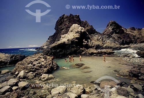 Assunto: Família em piscina natural na Ilha de TrindadeLocal: Ilha que pertence ao estado do Espírito Santo (ES)Data:
