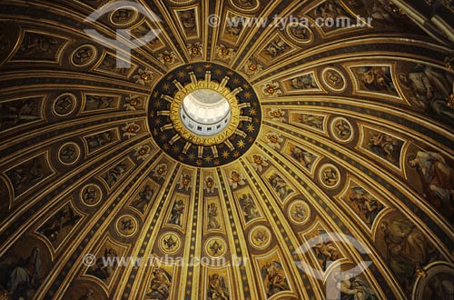 Assunto: Detalhe, cúpulaLocal: Vaticano, Itália