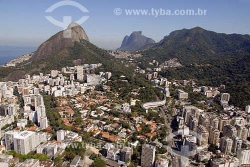 Assunto: Vista aérea do Leblon e da GáveaLocal: Rio de Janeiro - RJData: 05/08/2006