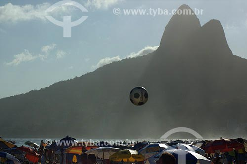 Assunto: Praia de Ipanema lotadaLocal: Rio de Janeiro - RJData: 15/10/2006