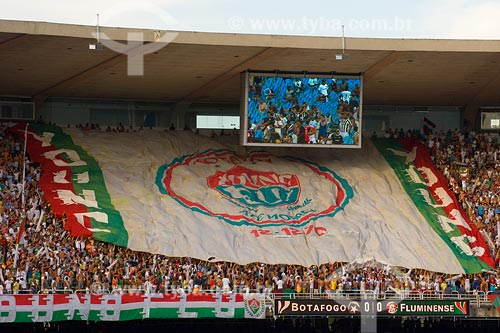 Assunto: Torcida do Fluminense no Maracanã / Local: Rio de Janeiro - RJ / Data: 02/2008