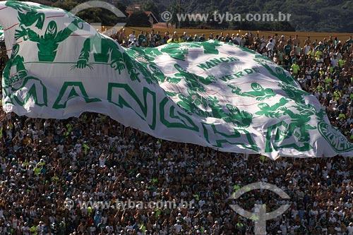 Assunto: Torcida do Palmeiras em jogo no estádio Morumbi / Local: São Paulo - SP / Data: 03/2008