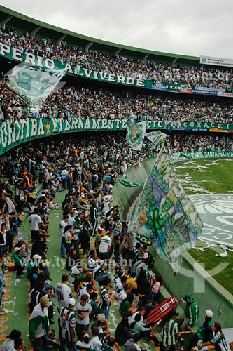 Assunto: Torcida do Coritiba FC no estádio Couto Pereira / Local: Curitiba - PR / Data: 01/2008