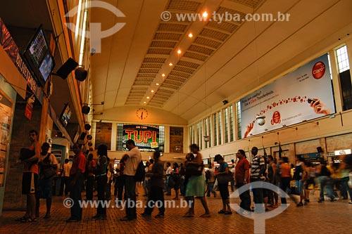 Assunto: Interior da Estação de Trem Central do Brasil / Local: Bairro Centro - Rio de Janeiro - RJ - Brasil / Data: 01/2008