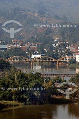 Santo Antônio de Pádua - Rio Pomba com a Ponte Raul Veiga mais conhecida como Ponte Velha - Noroeste Fluminense - Rio de Janeiro  - Santo Antônio de Pádua - Rio de Janeiro - Brasil