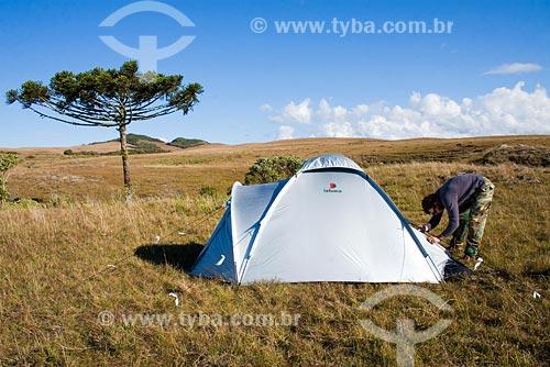 Assunto: Acampamento na Serra da Boa Vista / Local: Serra da Boa Vista, no município de Rancho Queimado - SC - Brasil / Data: 14/06/2008