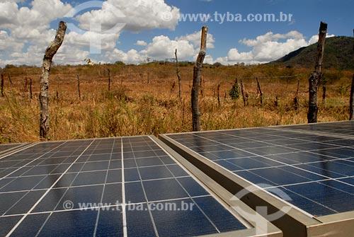 Assunto: Placas de energia foto voltatica, Instituto Eco-Engenho/ Local: São Jose da Tapera  - Interior do estado de Alagoas - AL / Data: novembro 2007