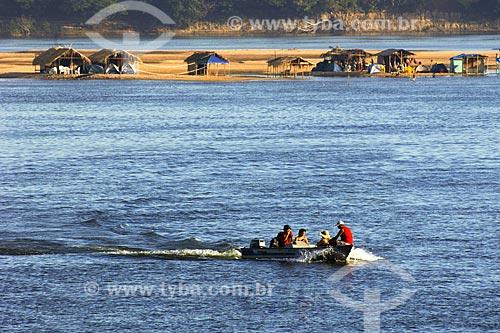 Assunto: Praia de Tucunaré na confluência dos rios Tocantins e Araguaia - Vista do Bairro Santa Rosa / Local: Marabá - PA / Data: 08/2008