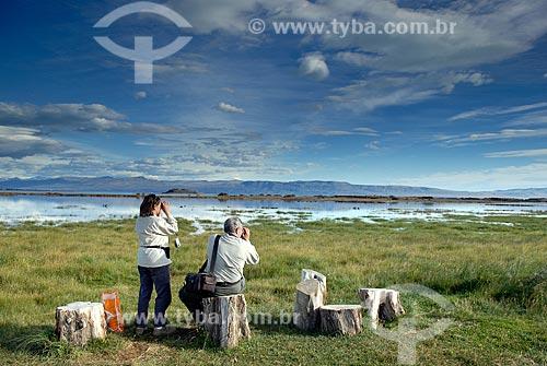 Assunto: Observação de pássaros / Laguna Nimez / Reserva de pássaros nas cercanias de El Calafate / Local: El Clafate - Argentina / Data: 02/2008