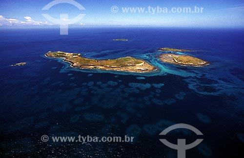 Assunto: Foto aérea do arquipélago de Abrolhos / Local: Parque Nacional Marinho dos Abrolhos - BA / Data: 08/2008