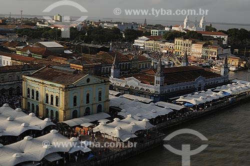 Assunto: Vista aérea do Solar da Beira e do Mercado Ver-o-peso com Igreja da Sé ao fundo / Local: Belém (PA) / Data: 12 de Outubro de 2008