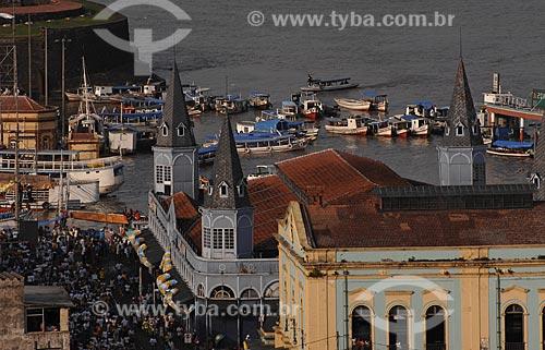 Assunto: Vista aérea do Solar da Beira com Mercado Ver-o-peso / Local: Belém (PA) / Data: 12 de  Outubro de 2008